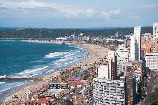 Durban, Ethekwini, South Africa, Birds Eye View