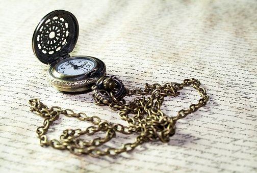 Clock, Time, Pocket Watch, Old, Antique, Font, Letters