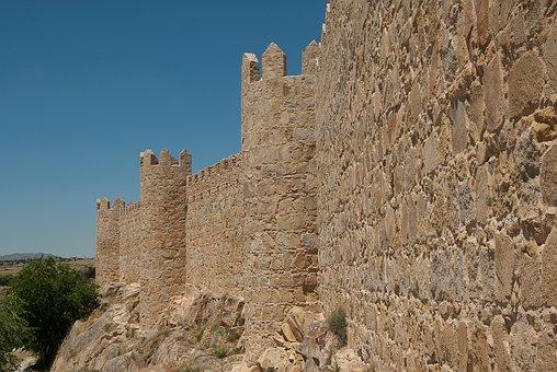 Spain, Avila, Ramparts, Wall, Fortification