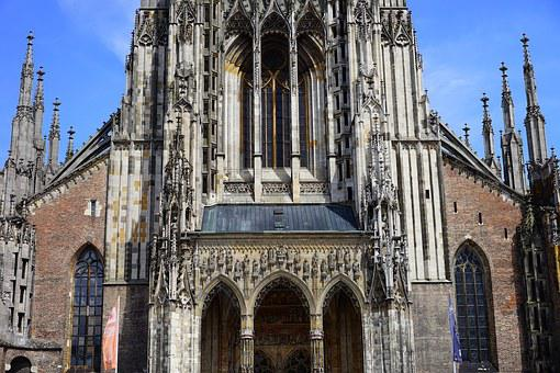 Ulm Cathedral, Münster, Portal, Front, Frontal View
