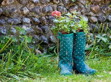 Wellington Boots, Wellingtons, Boots, Galoshes, Green