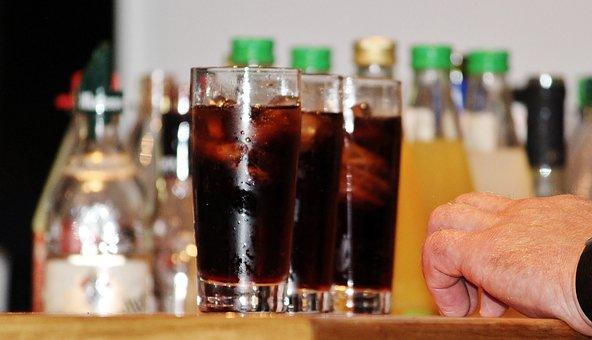 Bar, Counter, Alcohol, Serving, Glasses, Bottles