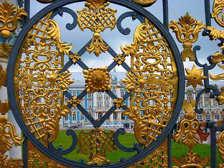 Detail, Gold, Fence, Splendor, St Petersburg