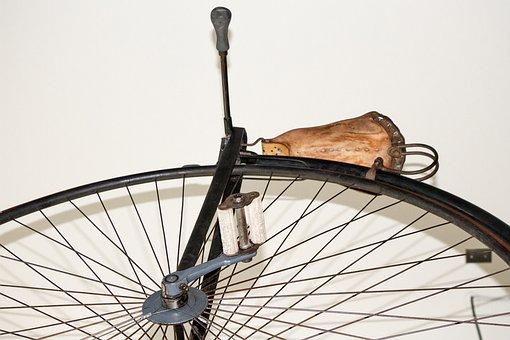 Bicycle, Large Wheel, Vintage, Pedal, Large, Sport