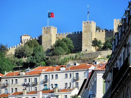 Portugal, Lisbon, Castle, Fortress, Ramparts, Tours