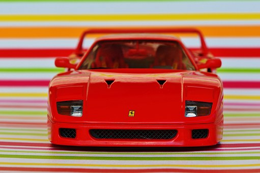Ferrari, Racing Car, Model Car, Sports Car, Front View