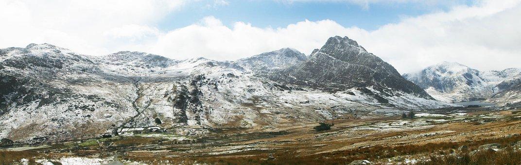 Tryfan, Bethesda, Wales, North, Mountain, Landscape