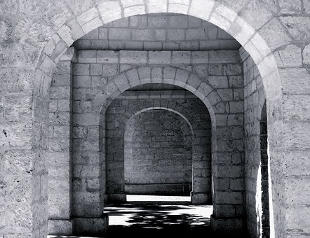 Mystery, Mysterious, Arch, Arches, Stone Arch, Black