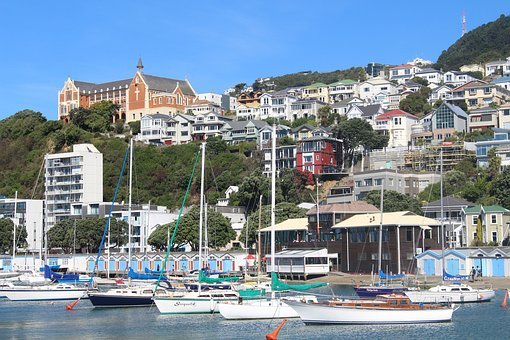 Wellington, New Zealand, City, Center, Port, Bay, Water