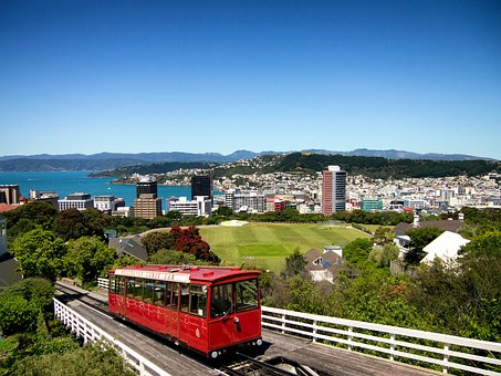 Wellington, New Zealand, Train, Railroad, Buildings