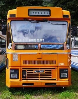 Old Bus, Service Bus, Fiat, Italian, Museum