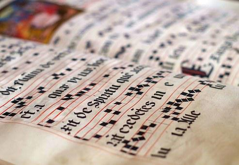 Calligraphy, Scores, Parchment, History, Old, Music