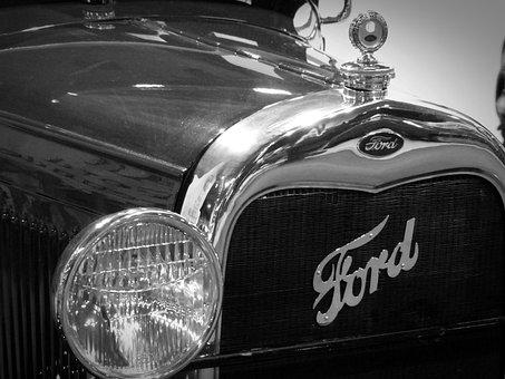Oldtimer, Ford, Spotlight, Emblem, Classic, Grille