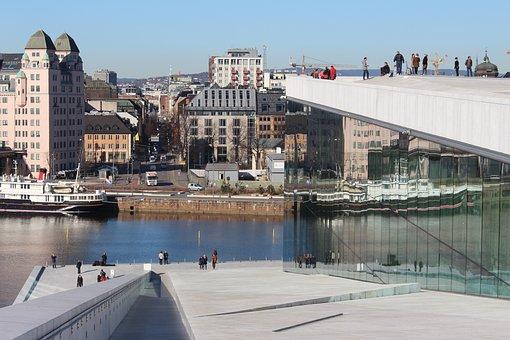Oslo, Opera, White, Building, Opera House, Architecture