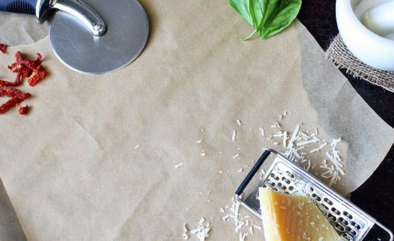 Background, Cutting Board, Pizza Cutter, Wooden
