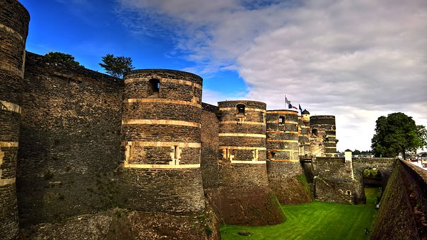 Castle, Medieval, France, Stone Wall, Ramparts