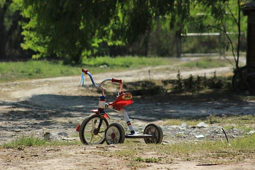Tricycle, Bicycle, Vehicle, Pedals, Rim