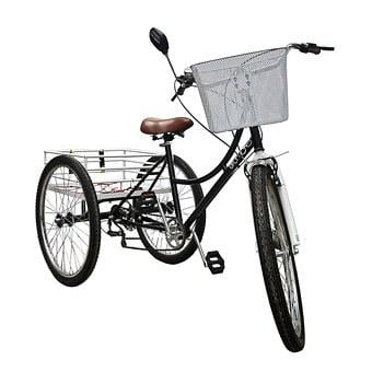 Bicycle, Tricycle, Wheels, Rim, Handle, Vehicle, White