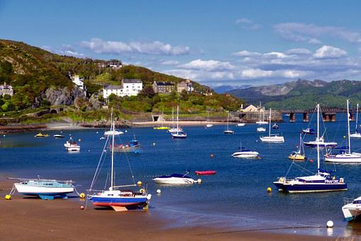 Barmouth, Wales, Boats, Harbour, Sand, Mawddach