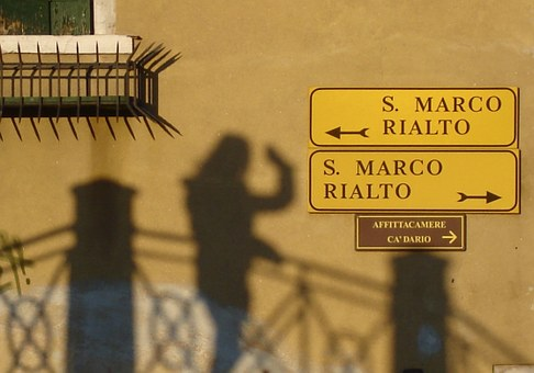 Venice, Shadow, Waving, Confusion, Sun, Got Lost, Italy