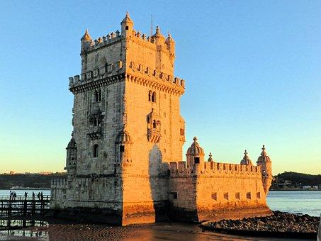 Portugal, Lisbon, Tage, Tower, Belem, Fortress, Slots