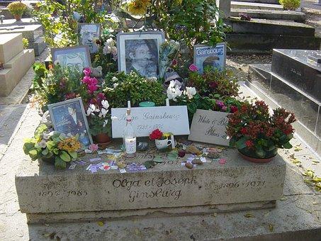 Tomb Of Serge Gainsbourg, Montparnasse Cemetery, Paris