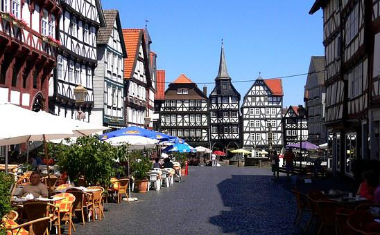 Summer, Tourism, Sun, Bad Wildungen, Blue Sky