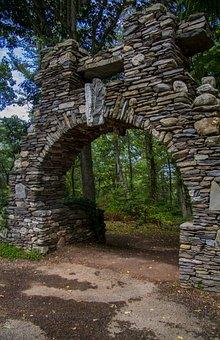 Tunnel, Bridge, Path, Trail, Forest, Landscape, Travel
