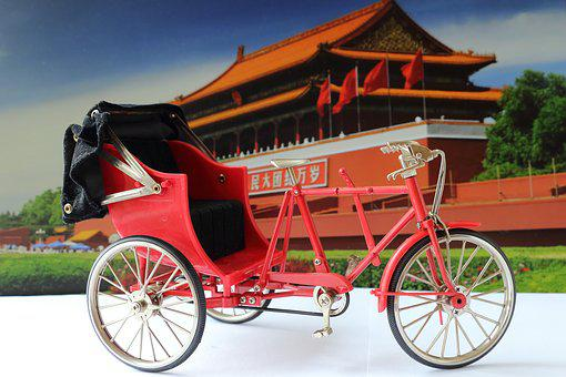 Miniature, Rickshaw, Bike, Tricycle
