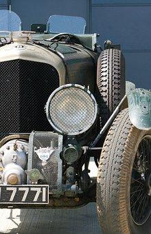 Bentley, Vintage Car, Racing Car, Blower Bentley, Tyres