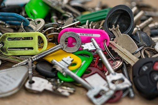 Keys, Open Locks, Security, Unlock, Secure, Bunch, Pile