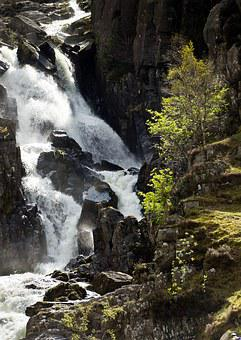 Lower Ogwen Waterfall, Wales, Snowdonia, Waterfall
