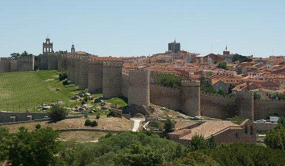 Spain, Avila, Ramparts, Wall, Medieval Town