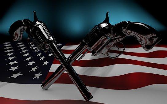 Usa, Flag, Colt, Pistol, America, Freedom