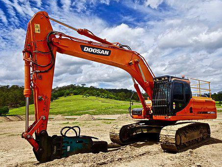 Machinery, Digger, Excavator, Construction, Equipment