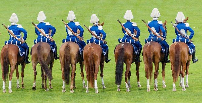 Reiter, Guard, Horses, Solemnly, Beritten, Uniforms