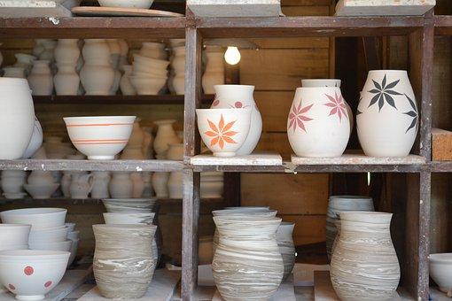 Pottery, Bowl, Vase, Pitcher