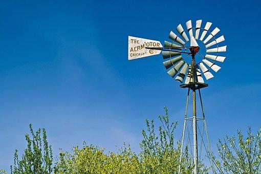 Aermotor, Windmill, Seattle, Sky