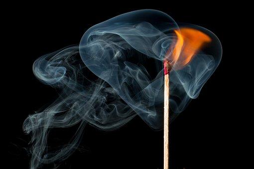 Fire, Smoke, Smoke Fire, Match, Burn, Ignition, Flame