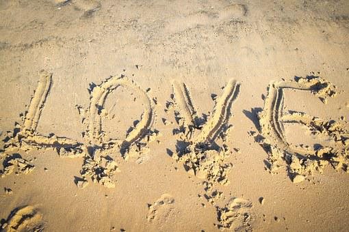 Love, Beach, Word, Sea, Romance, Summer, Romantic