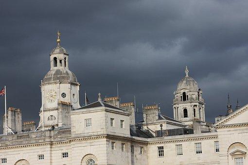 Building, London, England, Uk, Travel, Whitehall, Storm