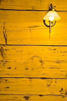 Replacement Lamp, Wall, Light, Wood, Boards, Raw, Mood