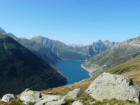 Mountain, Lake, Landscape, Alps, Mercantour, Nature