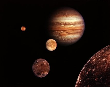 Jupiter, Monde, Planet, Starry Sky, Space, Universe