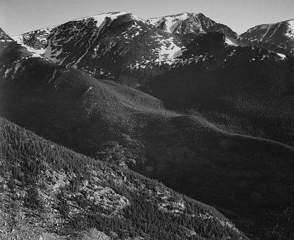 Rocky Mountains, Colorado, Snow, Valley, Ravine
