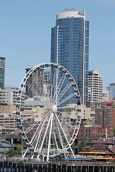 Seattle, Wheel, Ferris Wheel, Attraction, Pier 57
