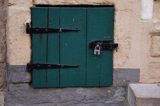 Door, Goal, Padlock, Iron, Age, Building, Wall