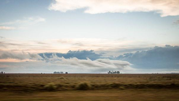 Clouds, Sky, Field, Argentina, Landscape, Nature