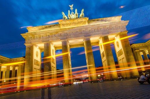 Berlin, Brandenburg, Goal, Brandenburg Gate, Quadriga