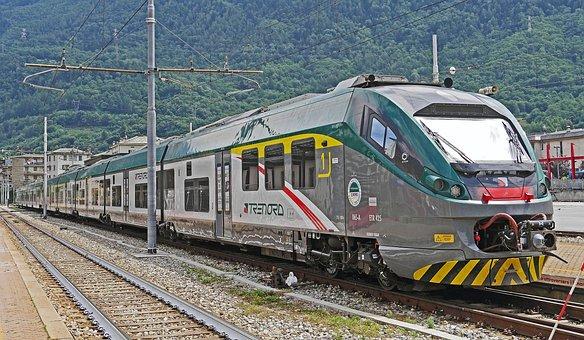 Italy, Rail- Cars, Regional Traffic, Lombardy, Tirano